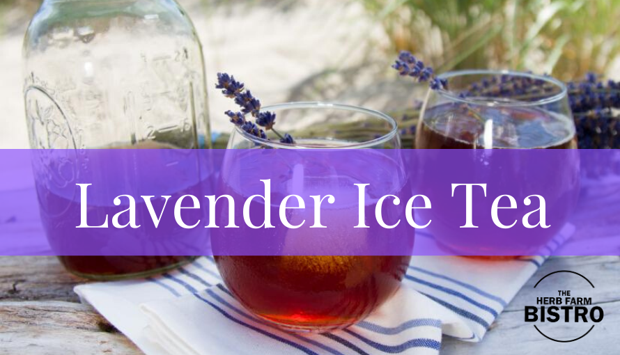 Let's drink… Lavender Ice Tea