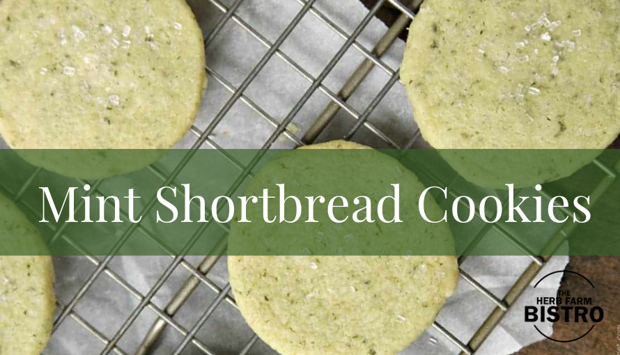 Let's bake… Mint Shortbread Cookies